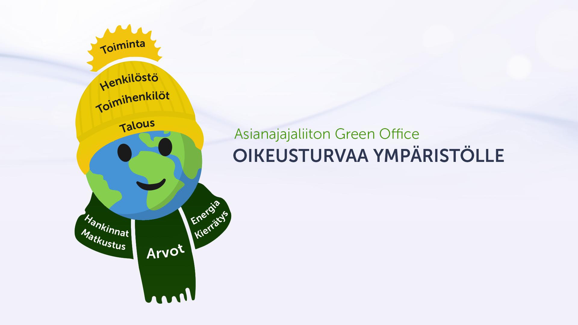 Asianajajaliiton Green Office -työn tunnus