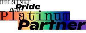Helsinki Pride Platinum Partner -logo